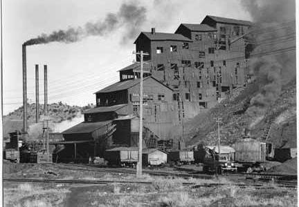 Coal plant, Madrid, New Mexico, ca 1935 (Unk, via Wikimedia Commons)