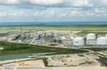 Construction of liquefaction terminal at Sabine Pass (photo Cheniere Energy(