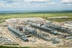 Building liquefaction facility at Sabine Pass LNG Terminal (photo Cheniere Energy(