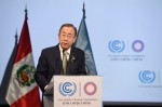 Ban Ki Moon addresses climate conference Lima (photo: UN)