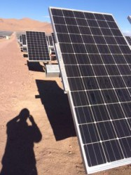 Solar panels in The Atacama, Chile