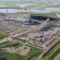 The first commercial-scale carbon capture and storage operation at a coal power plant went online last year in Canada. (Photo: SaskPower)