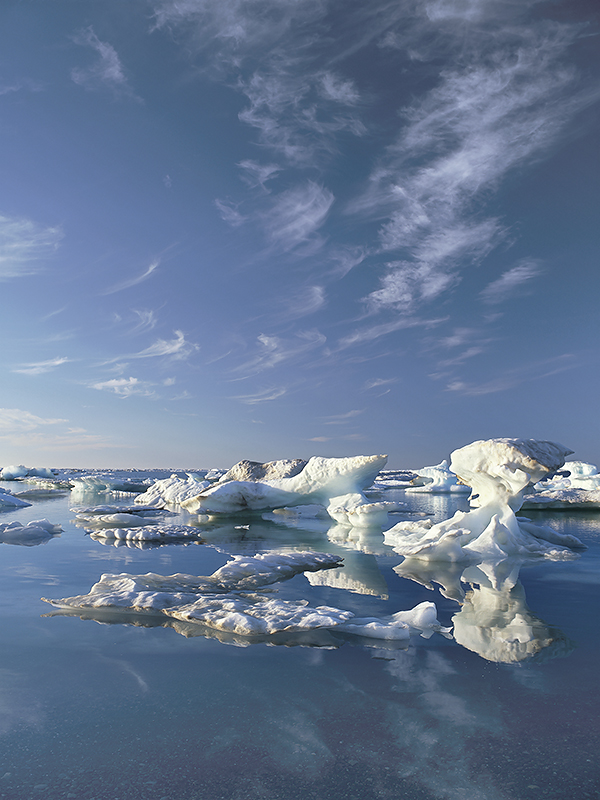 Sea ice along the Beaufort Sea coast (photo Subhankar Banerjee)