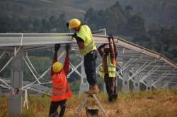 construction of Asyv solar power plant in Rwanda (photo Scatec Solar)