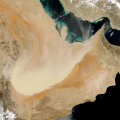 dust storm over Saudi Arabia photo NASA