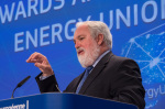 EU climate and energy commissioner Miguel Arias Cañete on 15 July, presenting the new EU ETS proposals (credit: European Union, 2015)