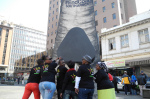 """End coal"" action in South Africa in 2013 (photo Greenpeace SA)"