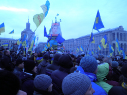 Euromaidan, Plaza de la Independencia, Kiev, December 2013 (credit: Jose Luis Orihuela, via Flickr)