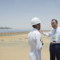 Secretary-General Ban-Ki Moon Visits Shams Solar Power Plant, Abu Dhabi (photo United Nations)