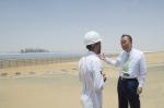 Secretary-General Ban-Ki Moon Visits Shams Solar Power Plant, Abu Dhabi (photo United Nations)