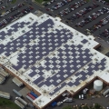 Solar panels on Caguas Puerto Rico Walmart (photo Walmart)