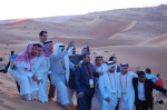 Saudi Aramco employees near Shayba oil field (photo Yosoynuts 2010)