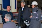 then-Energy Secretary Chris Huhne visits Longannet in 2010 (photo DECC)