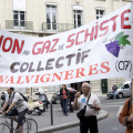 French shale gas protest, 2011 (photo Nicolas Sawicki)