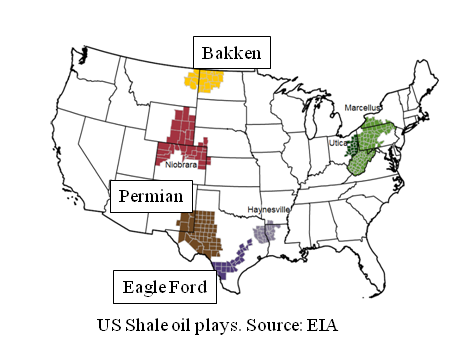 US Shale Oil The Day Of Reckoning Will Come - Us shale play map 2016