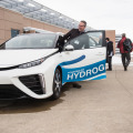 testing a hydrogen car (photo NREL March 2016)
