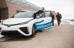 testing a hydrogen car (photo NREL March 2016)