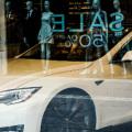 Tesla car show room in Edinburgh Scotland photo Judy Dean slider