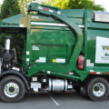natural gas powered garbage truck (photo Jeff Youngstrom)