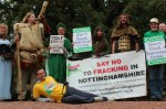 frack free Notts at the Major Oak 2015 (photo thornypup)