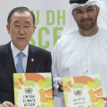 Secretary-General Ban Ki-moon and Sultan Ahmed Al Jaber Climate Change Envoy of the UAE (photo UN)