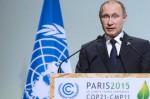 Vladimir Putin speaking at COP21 in Paris